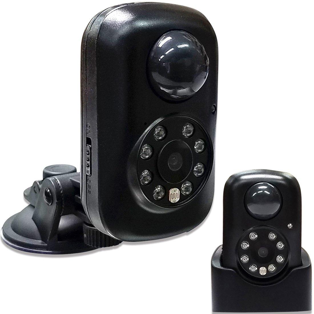 Hanwha 小型 赤外線 防犯カメラ 監視カメラ SDカード録画 人体検知センサー搭載 [バッテリー内蔵][配線不要][夜間撮影][人感センサー][SDHCカード付属] DVR-Q2(8GB) B006T785NC 1.DVR-Q2 小型 防犯監視カメラ 1.DVR-Q2 小型 防犯監視カメラ