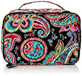 Vera Bradley Large Blush and Brush Makeup Cosmetic Case, Parisian Paisley, One Size