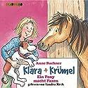 Ein Pony macht Faxen (Klara + Krümel) Hörbuch von Anne Bachner Gesprochen von: Sandra Keck