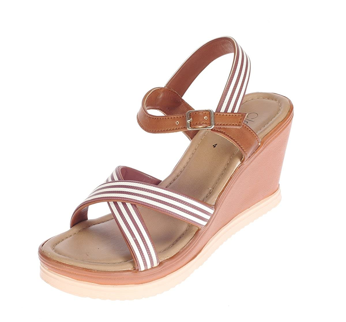 Cleo from Khadims Womens Faux Leather Wedges