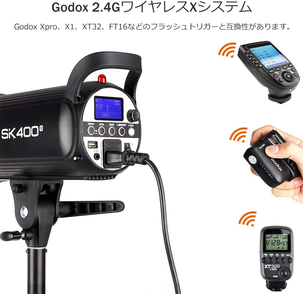 GODOX SK400II 400Ws 110V Professional Studio Strobe SK Series Power 5600K Max 400WS GN58 Flash Studio Light