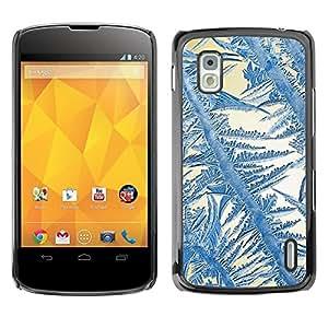 Be Good Phone Accessory // Dura Cáscara cubierta Protectora Caso Carcasa Funda de Protección para LG Google Nexus 4 E960 // Crystal Sun Blue White Winter