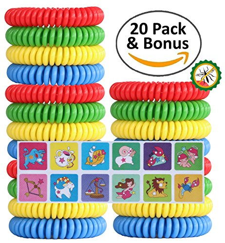 Trekology Mosquito Repellent Bracelets - All Natural, Deet Free Insect Repellant Wristband Safe for Kid & Adult - Waterproof Pest Control Bracelet Bands Help Repel Bugs & Mosquitoes Away