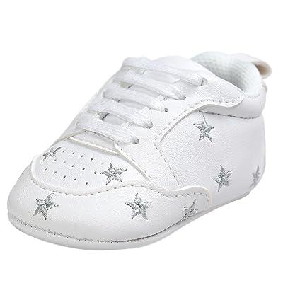 d9579d98f6303 LuckyGirls Bébé Fille Garçon Impression Chaussures de Crèche Semelle Souple  Antidérapant Baskets