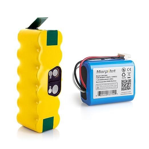 150 opinioni per Batteria iRobot Roomba e Braava, Morpilot Ni-MH Batteria Combo 3800mAh e 3000mAh