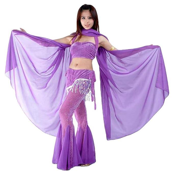 Damas Gasa Toalla Velo Danza Vientre Bufanda Danza Años 20 De Vientre Velo Danza Suave Suave Chal (Color : Tief Violett, Size : One Size): Amazon.es: Ropa y ...