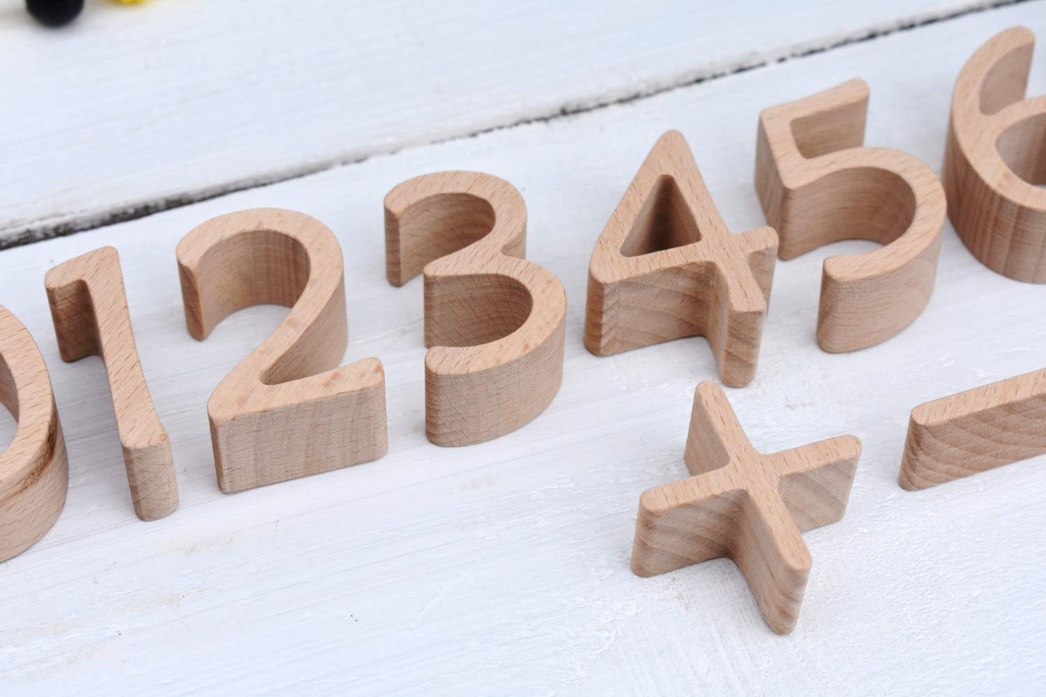 Wood Numbers For Nursery Wooden Numerals For Children Figures Preschool Development Toys Motor Games Montessori Education