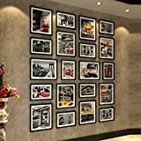 Wooden Living Room Photo Wall European Creative Simple Super Large Size Photo Frame Combination