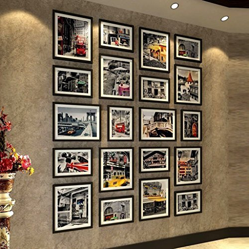 Wooden Living Room Photo Wall European Creative Simple Super Large Size Photo Frame Combination by AI XIN SHOP