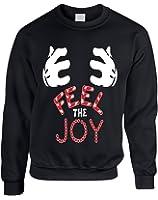 Allntrends Adult Sweatshirt Feel The Joy Cute Christmas Gift Holiday Top