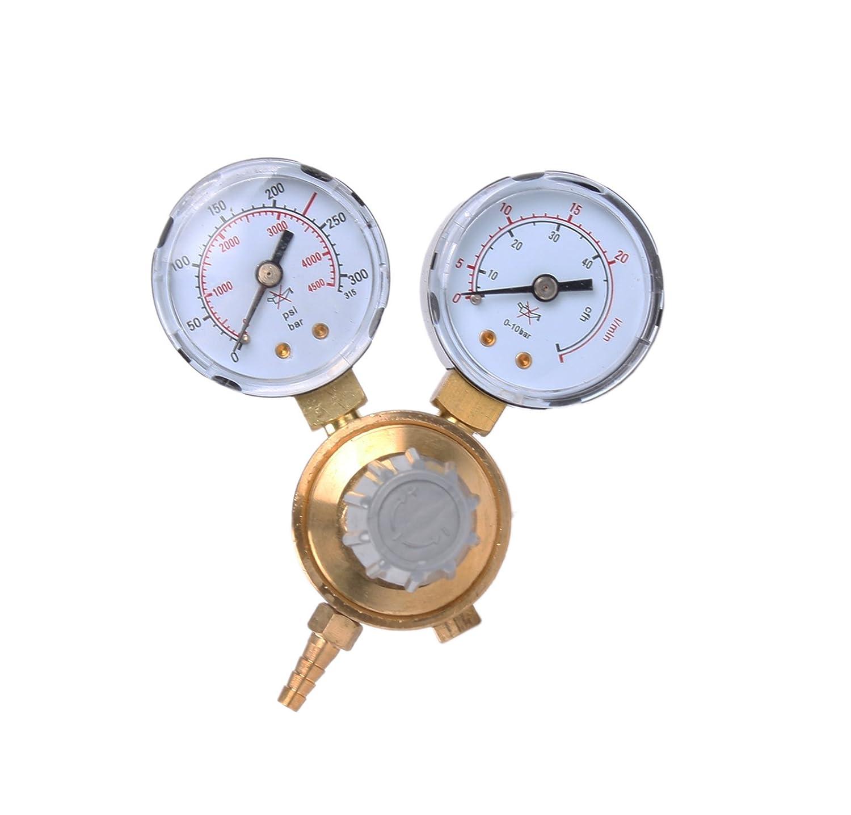 WELDINGER ECO MINI Flaschendruckminderer O2 f/ür Mehrwegflaschen bis 200bar Sauerstoffregler Druckregler