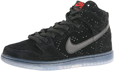 8e4b3d89a4f4 Nike Mens Dunk High Prem Flash Sb Black Black Clear Skate Shoe 10 Men
