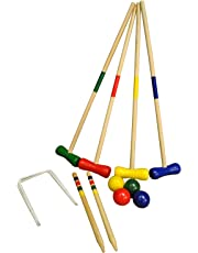 Selections Wooden Croquet Game for 4 Players