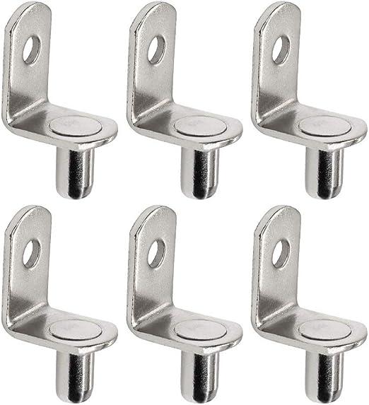 3 Styles 100 Packs Shelf Pegs,Nickel Plated Shelf Pins,Cabinet Furniture Closet Shelf Bracket Pegs