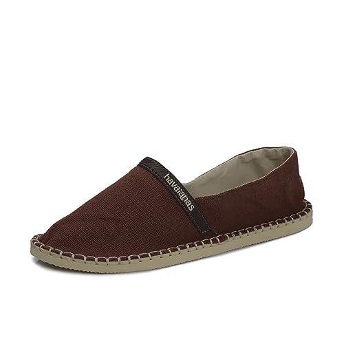 Havaianas - Alpargatas de lona para hombre marrón marrón, color marrón, talla 37.5: Amazon.es: Zapatos y complementos