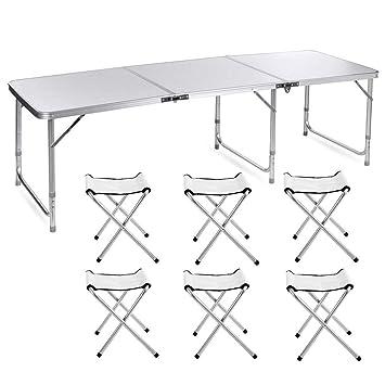 Nestling Ammiy® Portable Table Pliante Camping Pique-Nique Banquet ...