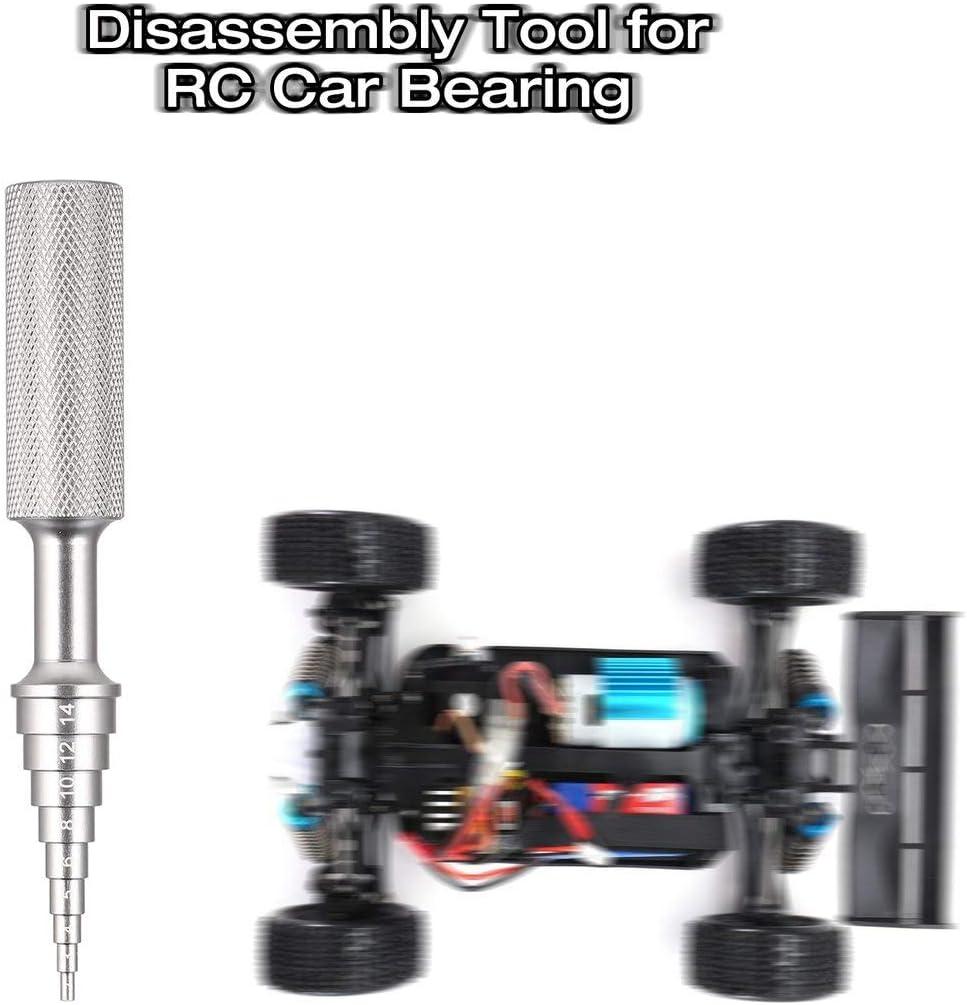 Argent Funnyrunstore D/émontage de Support de roulement de moyeu de Direction en Alliage daluminium Retirer Outil de Montage 2-14mm pour mod/èle de Voiture HSP Tamiya HPI Kyosho RC