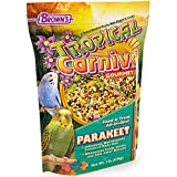 F.M. Brown's Tropical Carnival Gourmet Parakeet Food, Nutritionally Enhanced Daily Diet with Fruits, Veggies, Nuts, Seeds, and Grains, 2-lb Bag - Vitamin-Nutrient Fortified Larger Image