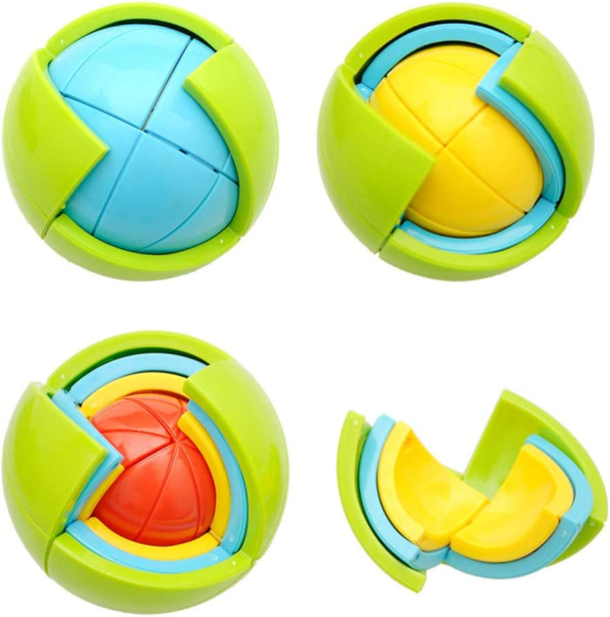 Intelligence Colorful Puzzle Assembly Balls Kids Game Funny Educational Toys  O