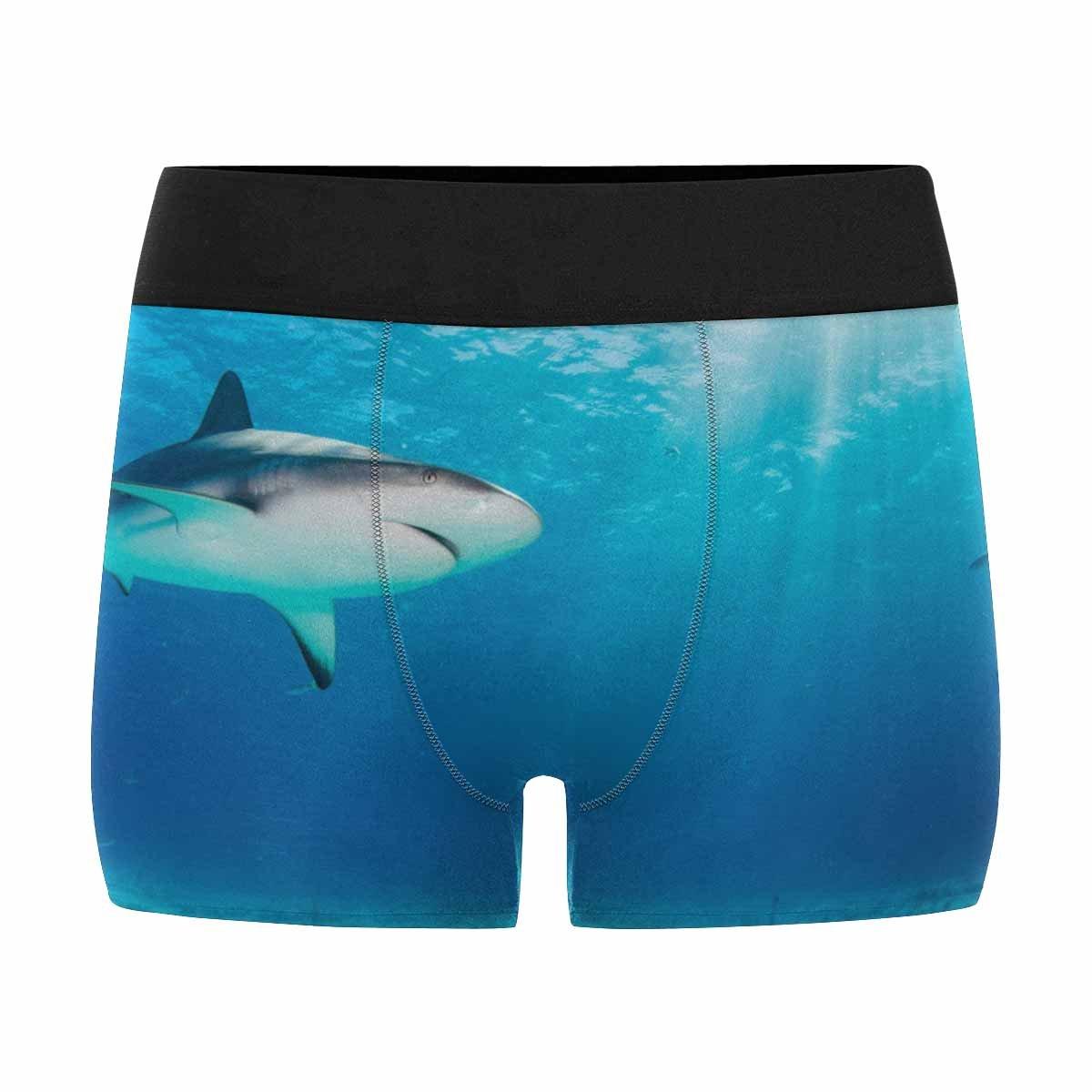 XS-3XL INTERESTPRINT Custom Mens All-Over Print Boxer Briefs Reef Shark
