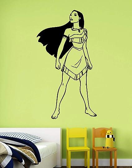Amazon.com: Pocahontas Wall Vinyl Decal Vinyl Sticker Disney ...