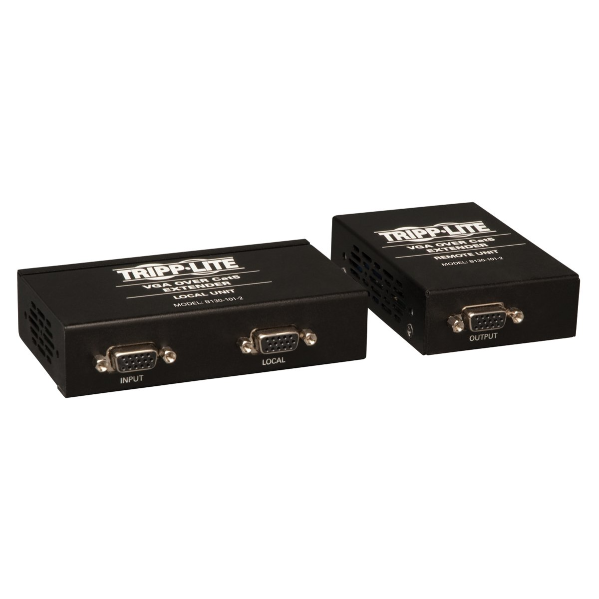 Tripp Lite VGA over Cat5 / Cat6 Extender, Transmitter and Receiver with EDID Copy, 1920x1440 at 60Hz(B130-101-2) by Tripp Lite