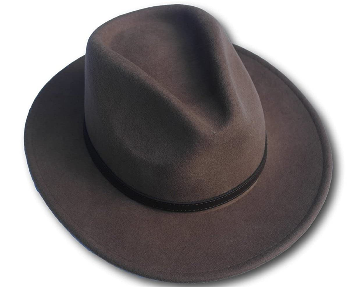 a6a0d642ebb3df Clothing, Shoes & Accessories Small High quality burgundy wide brim 100% wool  felt fedora trilby hat Hats