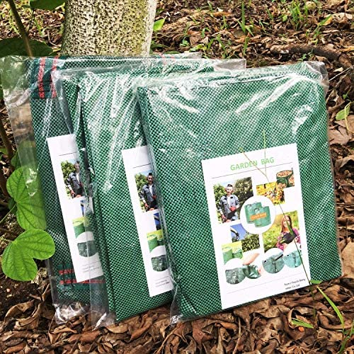 Professional 2-Pack 72 Gallons Lawn Home Garden Bags (D26, H30 inches) with Gardening Gloves,Reusable Leaf Waste Bags,Yard Bags,Laundry Container,Garden Trimmings Bag with 4 Handles