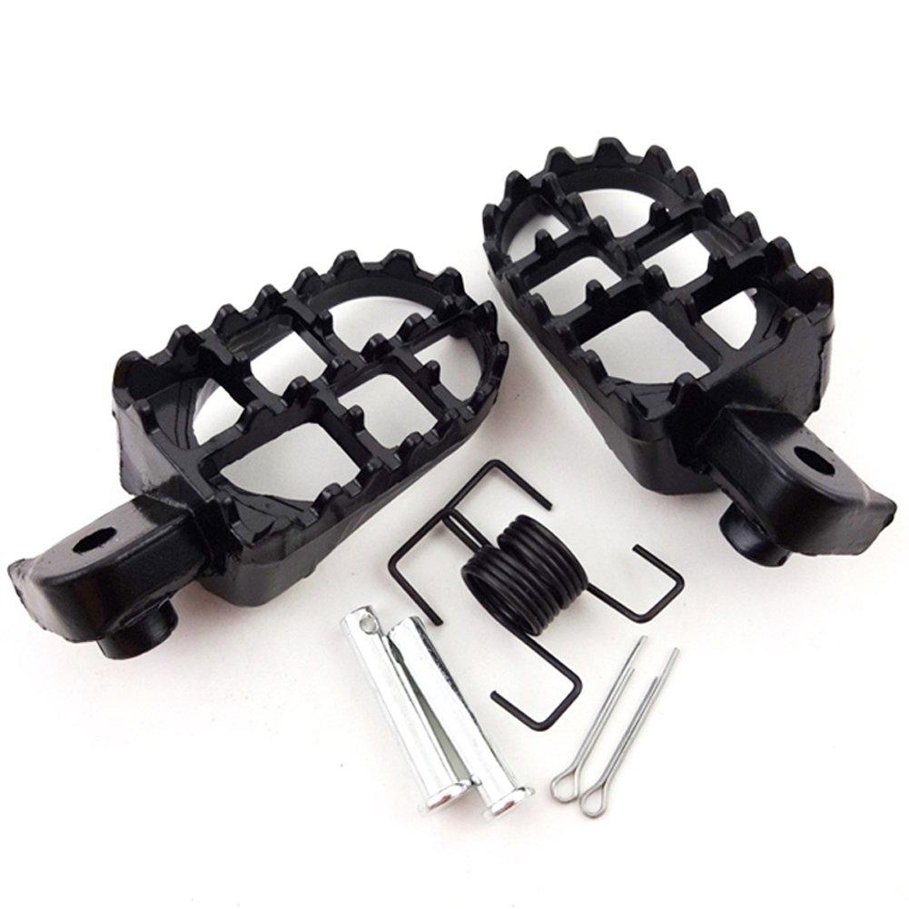 TC-Motor Aluminium Black Footpegs Foot Pegs Footrest Foot Rest For Pit Dirt Motor Bike Motorcycle PW50 PW80 TW200 XR50R CRF50 CRF70 CRF80 CRF100F