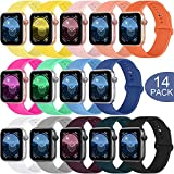 SWHAS Sport Bands Compatible Apple Watch Band 40mm 44mm 38mm 42mm, Soft Silicone Sport Strap Replacement Wristband for iWatch Series 5 4 3 2 1, for Women Men