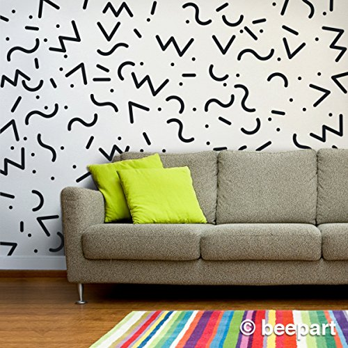 memphis group wall decals, 80s vintage vinyl stickers, art stickers -