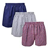 3-Pack Men's Boxer Underwear 100% Cotton Premium Quality 366-15-Medium