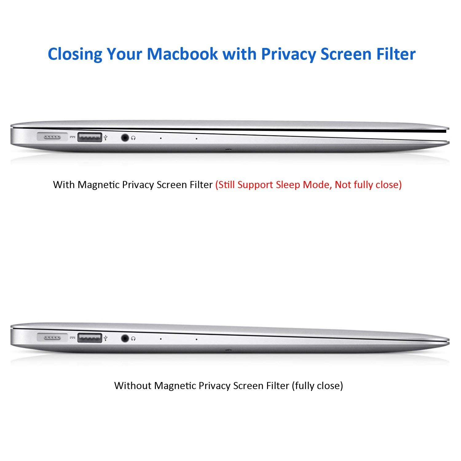 MacBook pro Privacy Screen Protector 13 and 15 inch,Blocks Prying Eyes,Magnetic and Ultra Slim.Easy ON/Off … (MacBook Pro 13 inch (2016-2018)) by JMLY (Image #6)