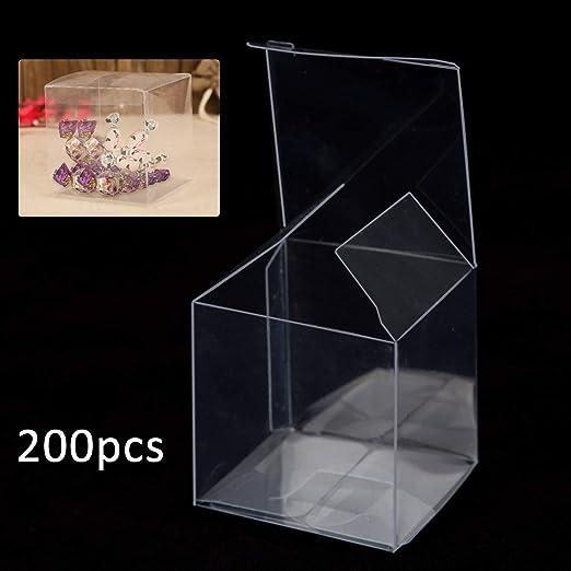 shoze 200 Cajas de Caramelos Transparentes de plástico PVC, Caja ...