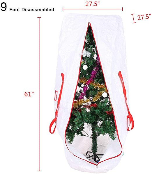 Trees w Handles Christmas Tree Storage Bag Deluxe Heavy Duty Holiday Up to 9 Ft