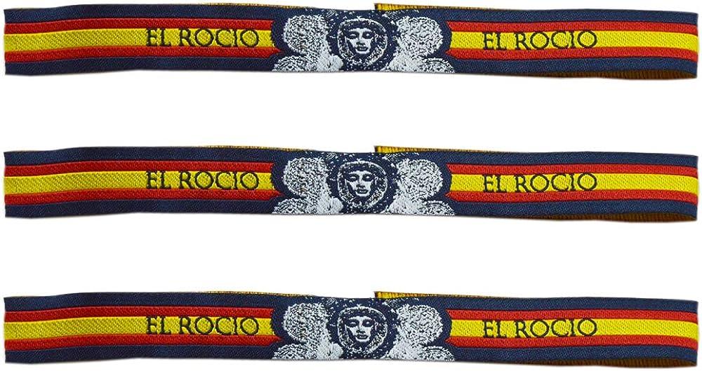 Pulsera Tela Virgen del Rocío - 3 Unidades - 30 X 1,50 cm