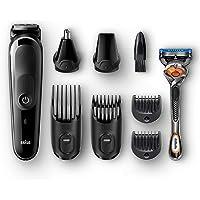 【Amazon.co.jp 限定】ブラック 電動バリカン/ヒゲトリマー 0.5mm幅 水洗い可 アタッチメント8個 人工知能 スタイリング MGK5060