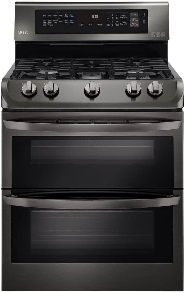 "LG LDG4313BD 30"" Black Stainless Steel Series Gas Freestanding Range with 5 Burners, Sealed Burner Cooktop, None Drawer, 4.3 Cu. Ft. Primary Oven Capacity, in Black Stainless Steel"