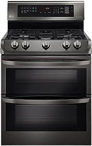 "LG LDG4313BD 30"" Black Stainless Steel Series Gas Freestanding Range with 5 Burners, Sealed Burner Cooktop, None Drawer, 4.3 Cu. Ft. Primary Oven Capacity, in Black Stainless Steel"