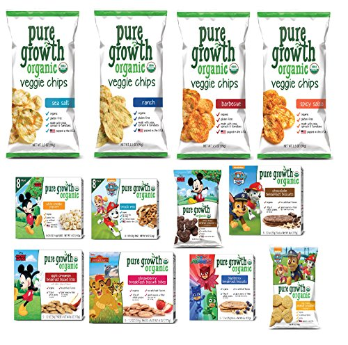 Taste of PGO - Healthy Lunchbox Snack Pack (Pack of 20) - Assortment of Cookies, Popcorn, Chips and More!