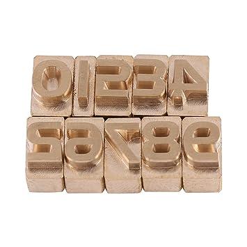 Set de sellos de latón para letras del alfabeto mayúscula, manualidades de cuero para estampado: Amazon.es: Hogar