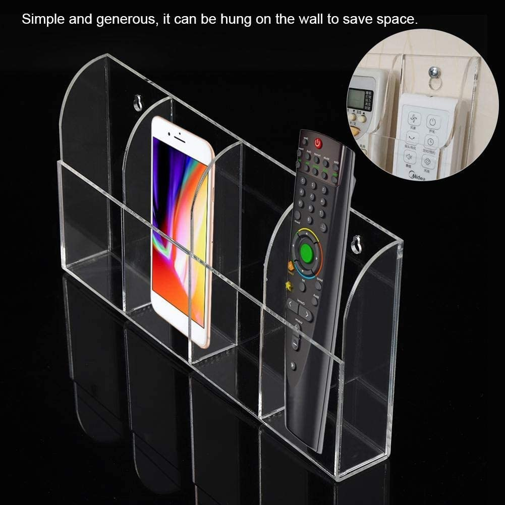 Powerlift Remote Control Holder Acrylic Air Conditioner Remote Control Holder Case Storage Box Wall Mount
