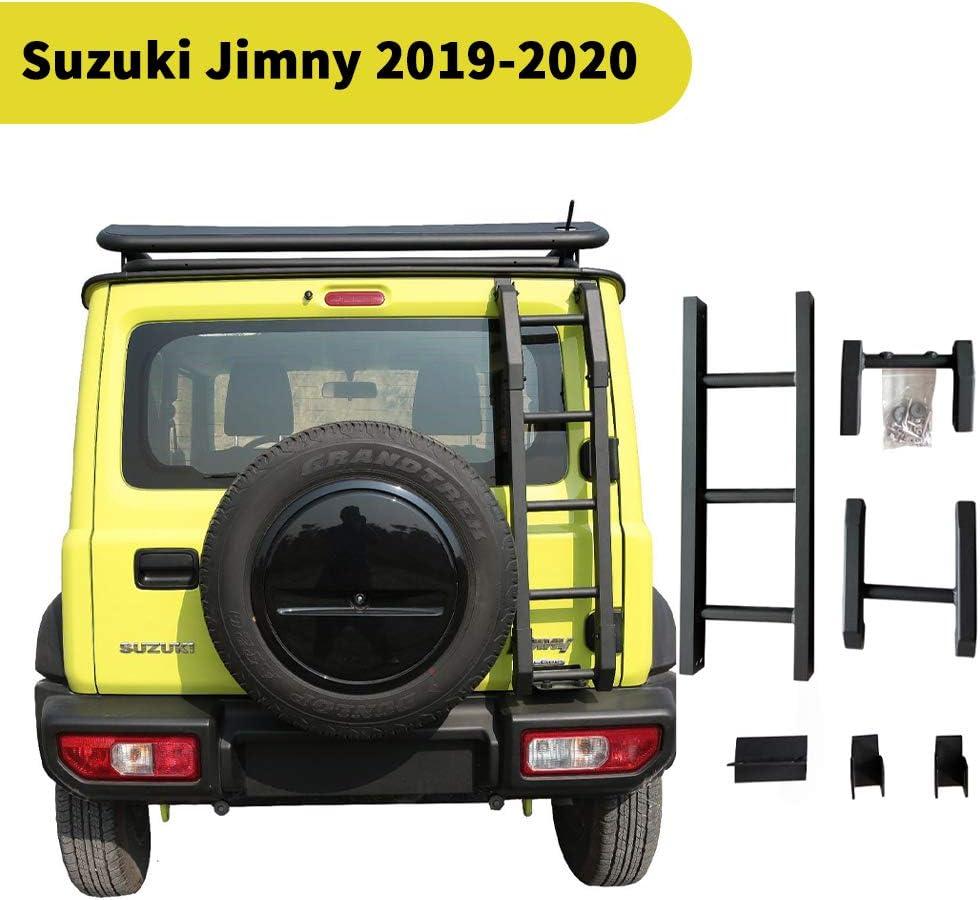 Silenciador de decoraci/ón de modificaci/ón de maletero de puerta trasera de aleaci/ón para Suzuki Jimny Jb64 Jb74 2019 2020 accesorios de estilo de Metal para coche Derecho