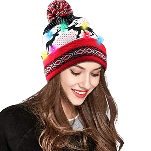 9fb09a51091 Light Up Beanie Hat 10 LED Women Knitted Hat