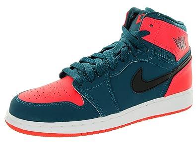 Amazoncom Jordan Gradeschool 1 Retro High BG TealInfrared 23WhiteBlack 705300312 Fashion Sneakers