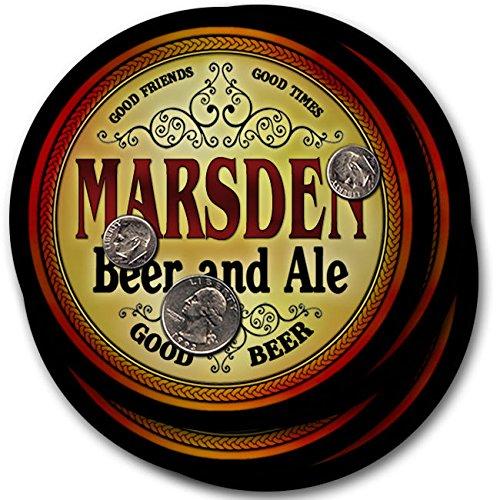 Marsdenビール& Ale – 4パックドリンクコースター   B003QUAIB2