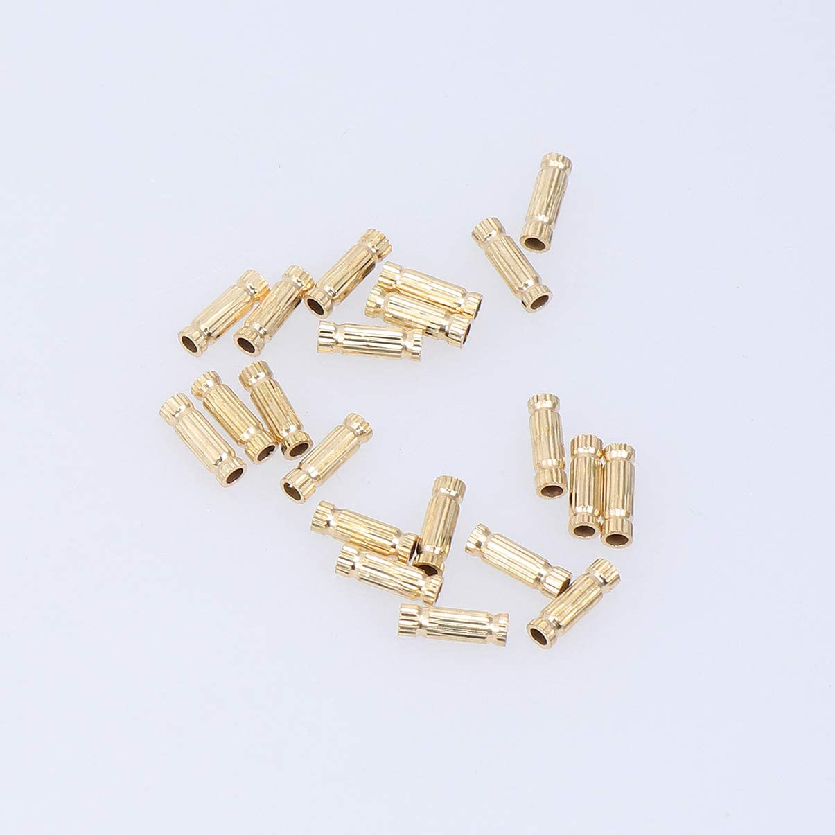 SUPVOX 100 Piezas de Tubo de Metal Cuentas de Cuentas Huecas Conectores Cuentas de Cuentas Sueltas Collar Pulseras Accesorio para Diy Artesan/ía Fabricaci/ón de Joyas