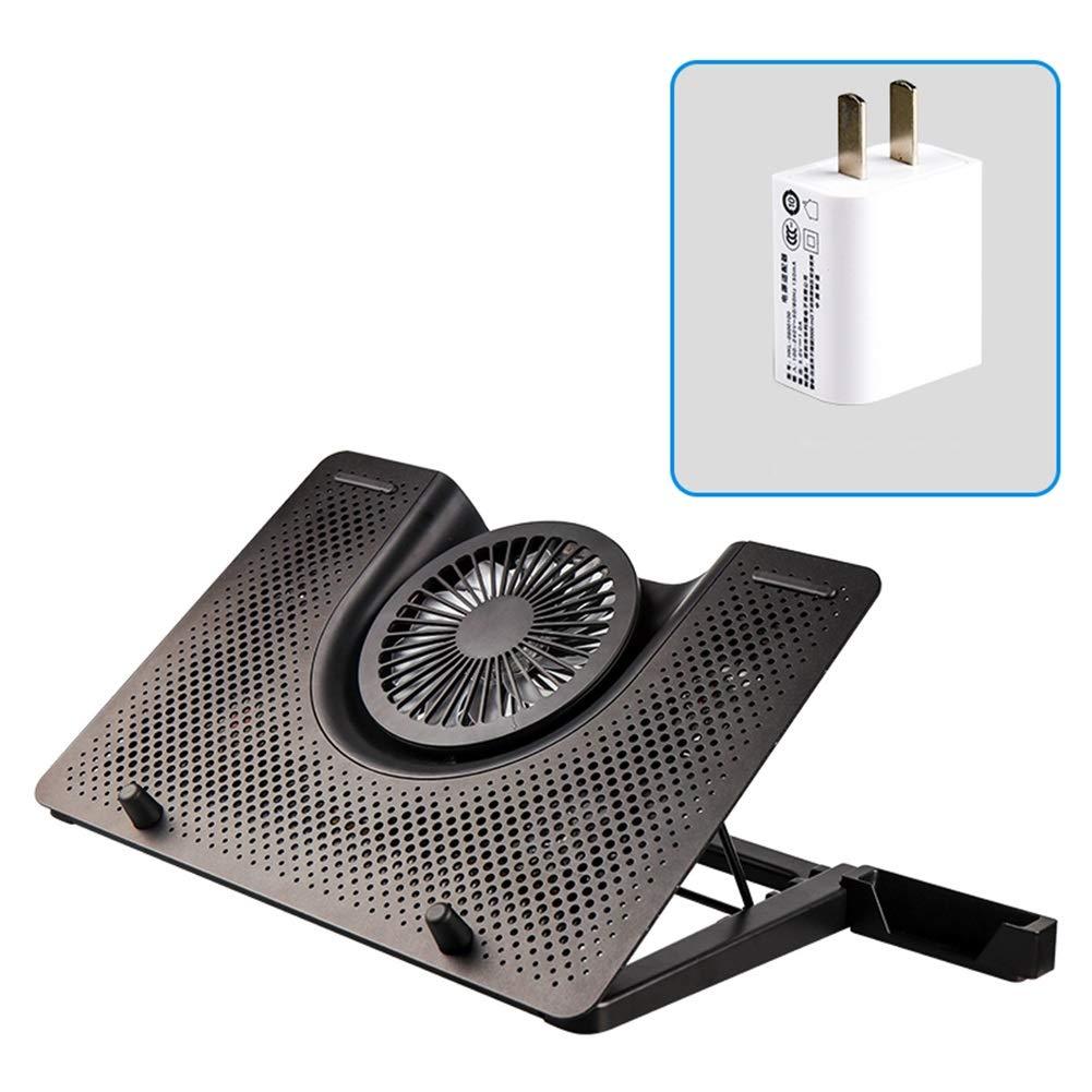 Ho,ney Laptop Cooler - Foldable Portable 5 Fan Ventilation, Height Adjustment (4-18cm) for 12-17 Inches -1053 Notebook Cooler (Color : Black)