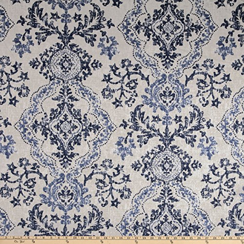 Magnolia Home Fashions Avalon Duck Sky Fabric by The Yard (Home Fabrics Magnolia)