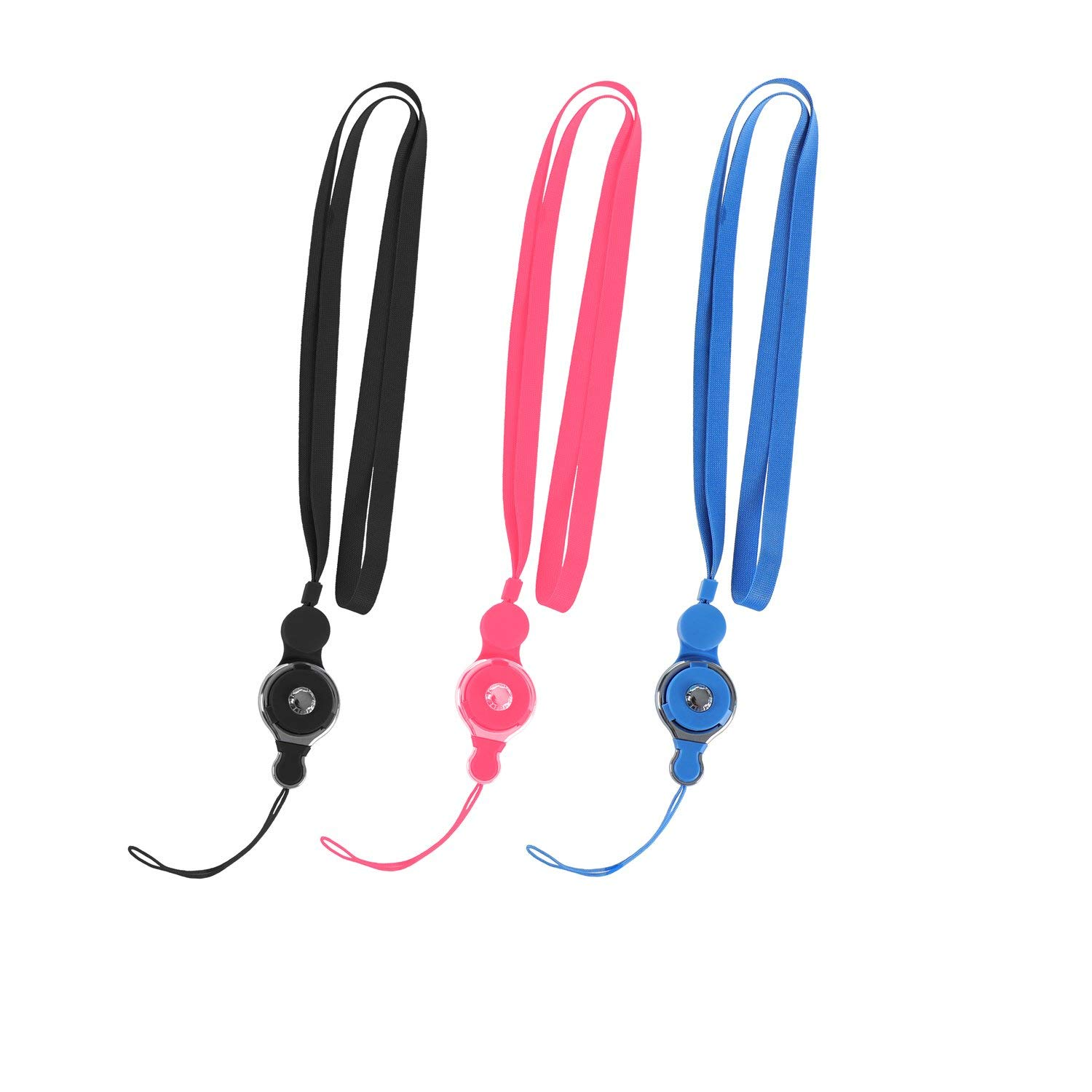 Mobile Phone Neck Lanyard, riepor 21'' Quick Release Nylon Necklace Belt/Key Ring Accessories - Random Colors(1PCS) by UG-KOINPYT